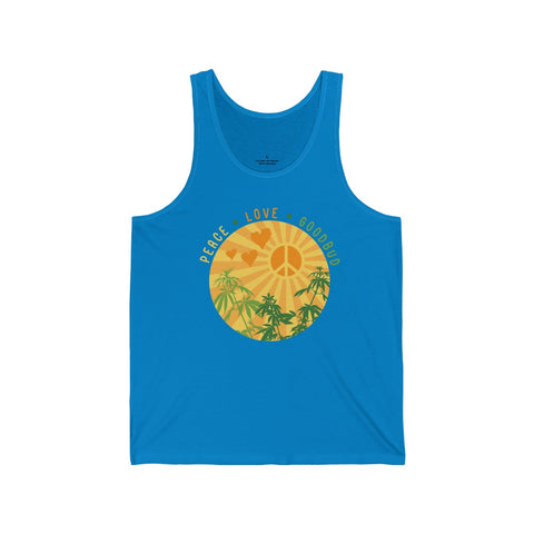 Image of Men's Tank Peace Love Goodbud