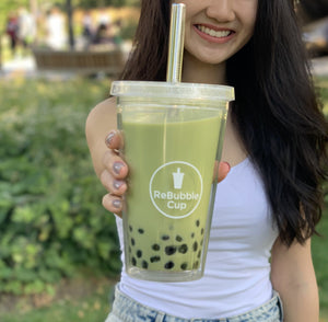 Regular ReBubble Cup with matcha bubble tea