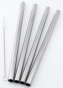 Stainless Steel Bubble Tea Straw & Straw Cleaner