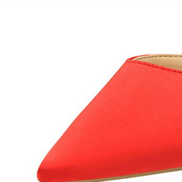 Slip-On Stiletto Heel Closed Toe Rubber Summer Slippers