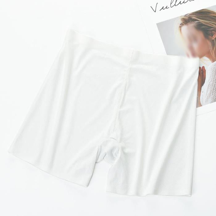 Ice silk large size seamless breathable anti-lighting safety briefs