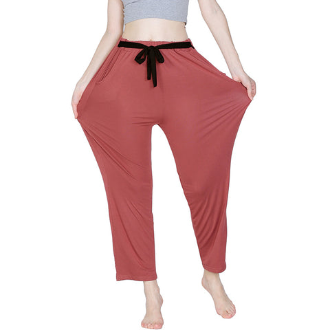 Spring Summer Square Long Plus Plus Yoga Sports Pants Casual Pants Female Household Pants