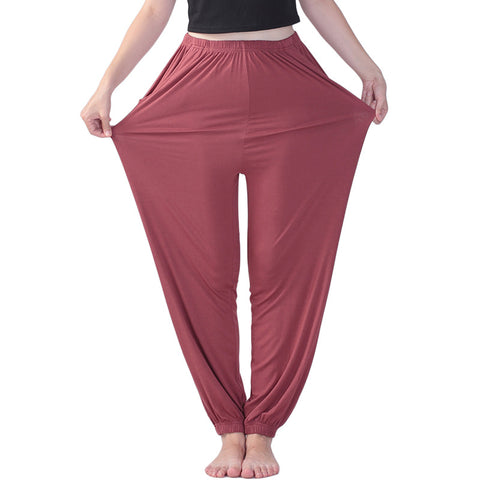 Women's Square Dance High Waist Elastic Length Plus Size Yoga Sports Pants Casual Women's Home Pants