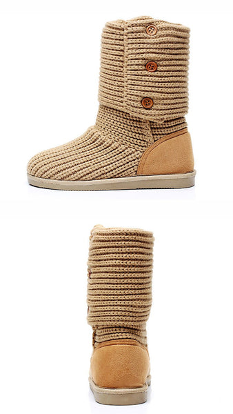 Autumn Winter High Tube Wool Snow Boots