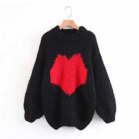 Splicing color semi-high collar knitted sweater