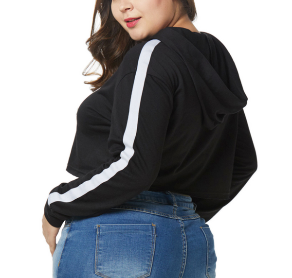 Fashion Large Size Loose Splicing Hoodie