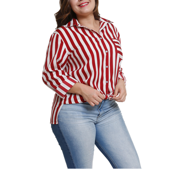 Fashionable Stripe Long Sleeve Shirt
