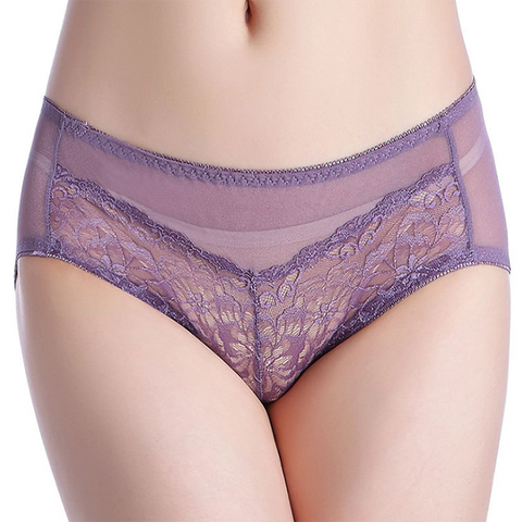 Sexy Lace Thin Section Comfortable Breathable Large Size Briefs