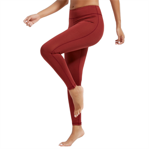 Tight yoga pure color exercises high waists pant