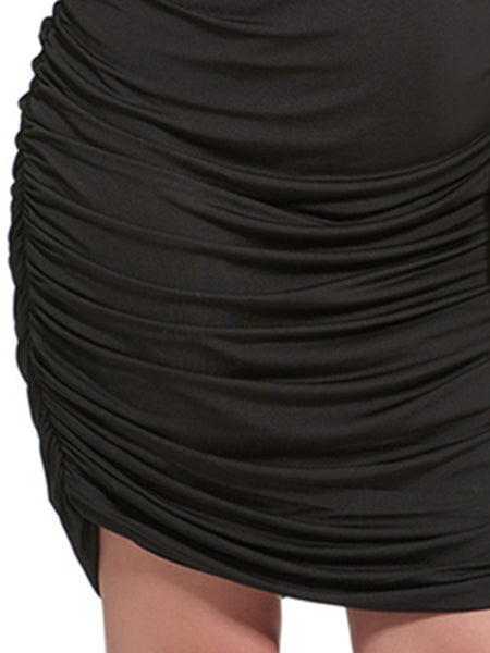 Plus Size Bodycon Dress Deep V-Neck Ruched