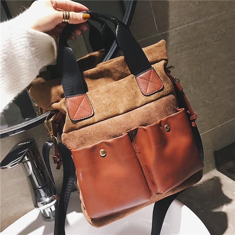 Casual Youth Chic Leather One Shoulder Hand Bag