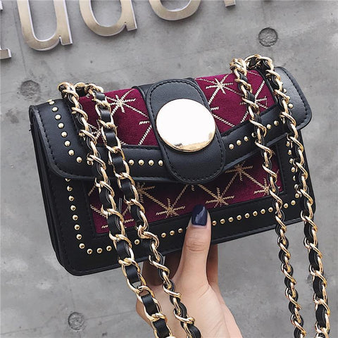 Elegant Lady Chic Leather Chain One Shoulder Hand Bag
