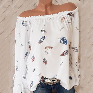 Loose Fitting  Print Blouses