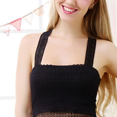 Lace Beauty Back Breathable Rimless Camisole Ladies Wrap Chest