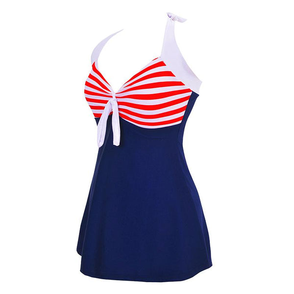 Fertilized And Enlarged Conjoined Skirt Corner Swimsuit