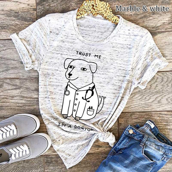Creative Printed Colour Comfortable Pure Colour Short Sleeve T-Shirt
