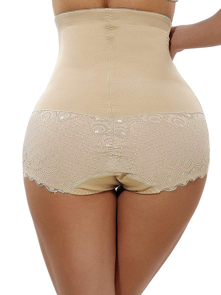 Sexy Pure Colour Splice Lace Tight Fitting Fitted Waist Tights Plastic Corset