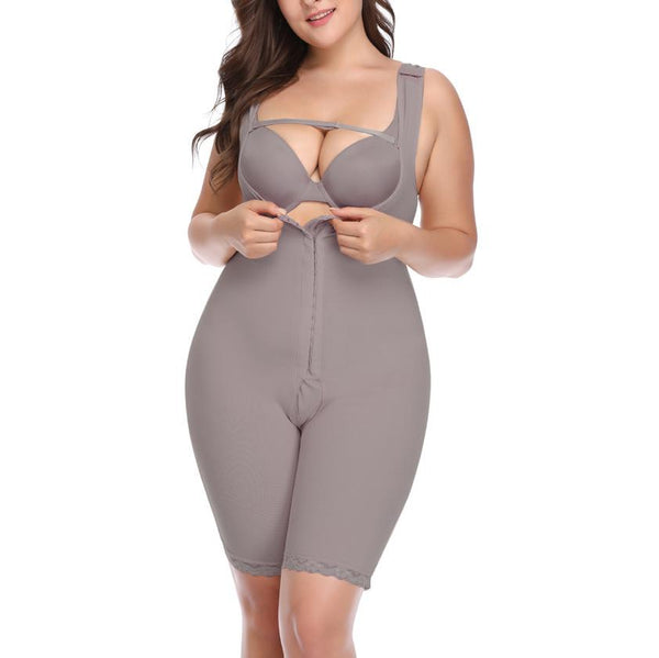 Pure Colour Fitted Waist Plus Size Sexytight Fitting Tights Plastic Corset