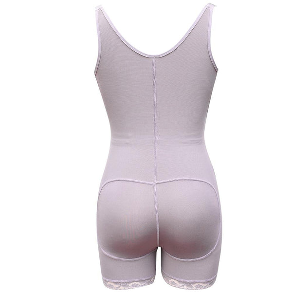 Fitted Waist Pus Size Splice Lace Pure Colour Tight Fitting Tights Plastic Corset