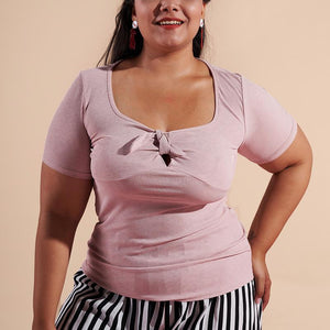 Fashion Loose Plus Size Pure Colour Short Sleeve T-Shirt