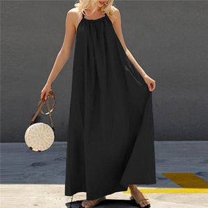 Sexy Suspender Backless Casual Dresses