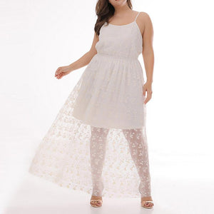 Women's Code Casual Lace Perspective Sling Dress