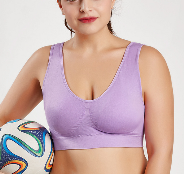 Plus Size Sports Bra Solid Color