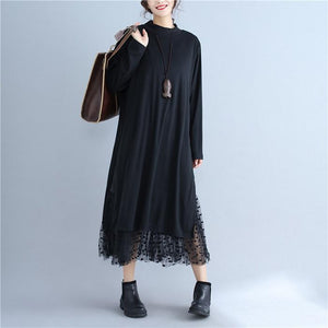 Slim And Comfortable Double-Layer Long Bottom Dress