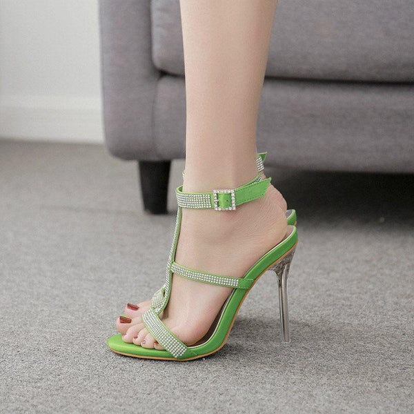 Buckle Stiletto Heel Open Toe Western Casual Sandals