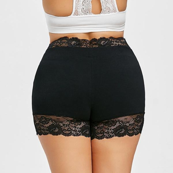 Lace stitching large size bottoming briefs