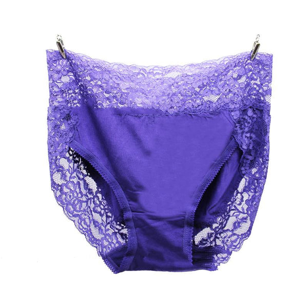 Sexy lace modal cotton high waist large size seamless triangle panties