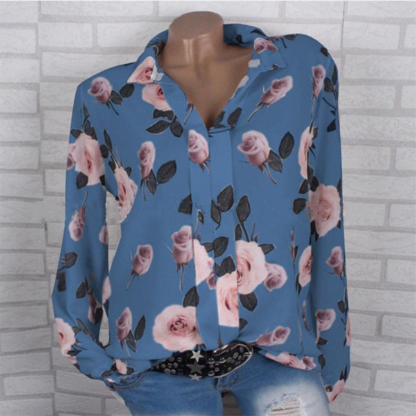 Ladies printed shirts blouse