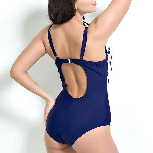 Female Sexy Print Suspenders With Open Backs And Hollow Swimsuits