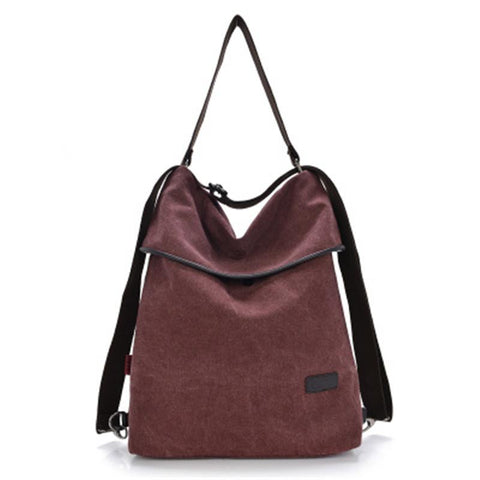 Multi-function canvas bag backpack
