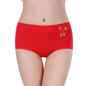 Sexy cotton comfortable large size no trace high waist panties
