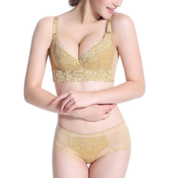 Thin Section Without Sponge Breathable Aromatherapy Lace Gathered Adjustable Bra