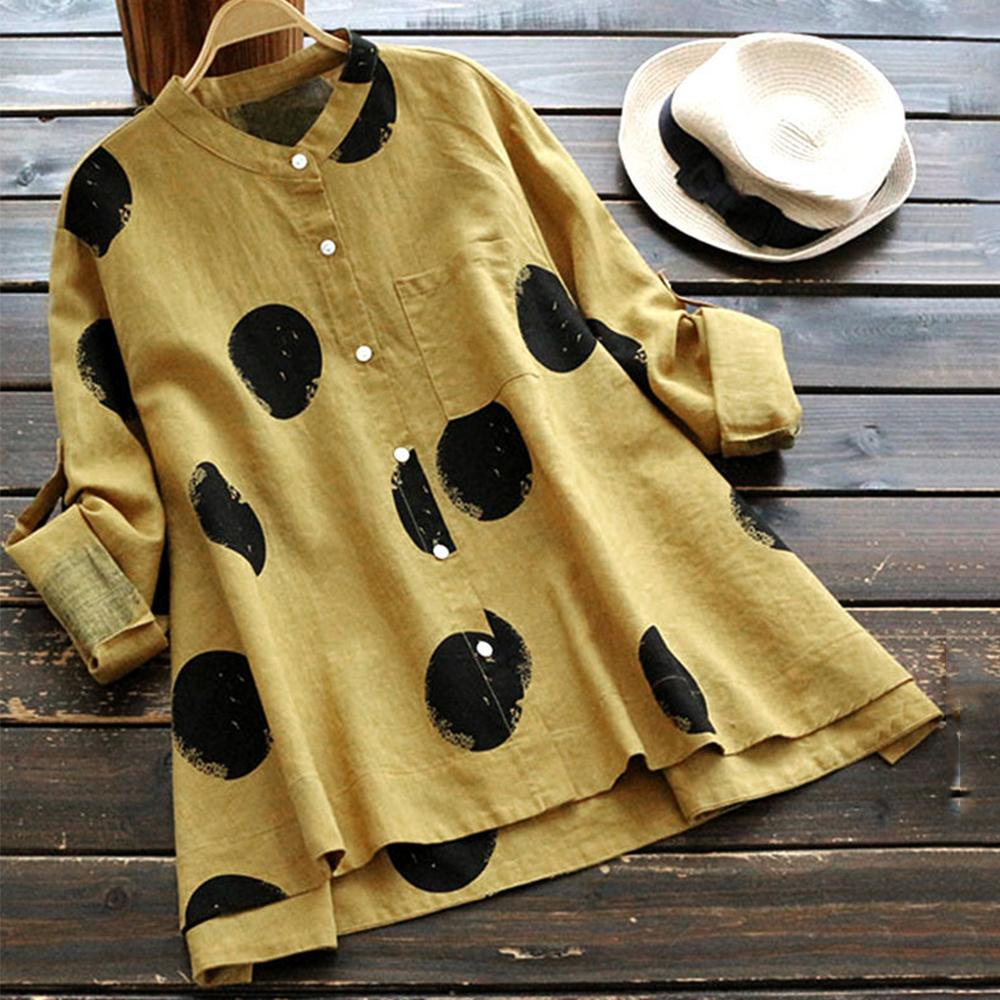 Fashion Casual Printing Stand Collar Long Sleeve Shirts