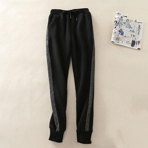 Fashion splicing loose casual pant