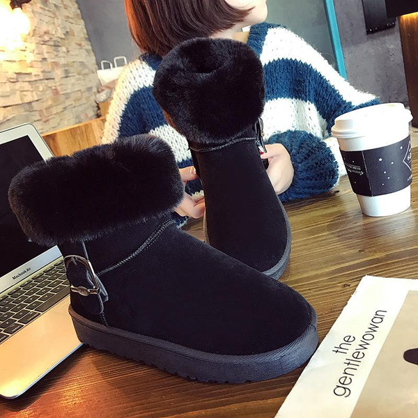 New Suede Flat Snow Boots