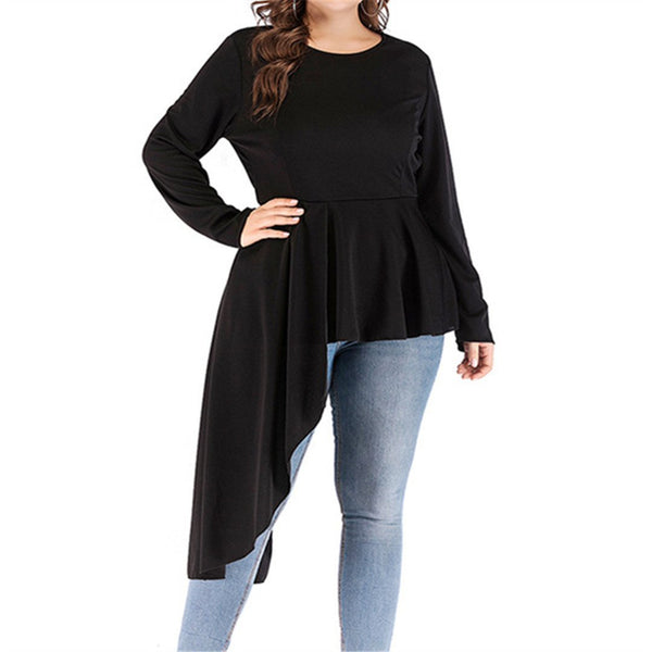 Fashion Long Sleeve Irregular T Shirt
