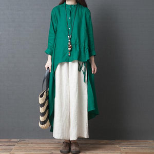 Fashion Temperament Loose Solid Color National Style Long Dress