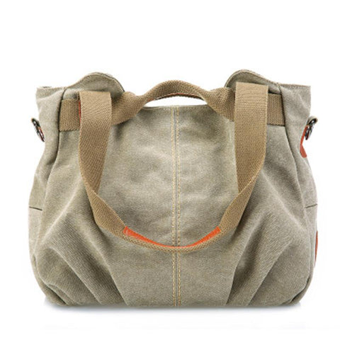Canvas Versatile Shoulder Bag Ladies Handbag