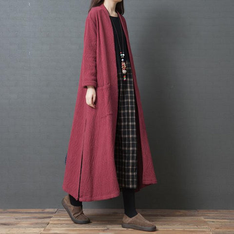 Loose Large Size Fashion Comfortable Cotton Long Cardigan