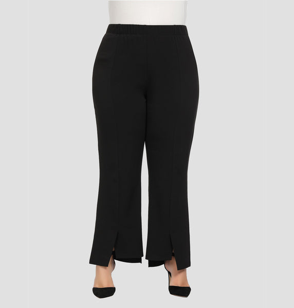 Women's Plus Size Texture Stretch Work Pants