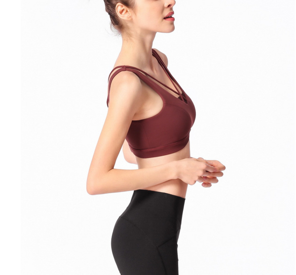 Pure Color Sexy Exercise Yoga Vest