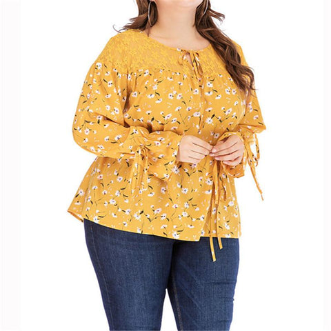 Big Size Blouse For Women's Spring T-shirt