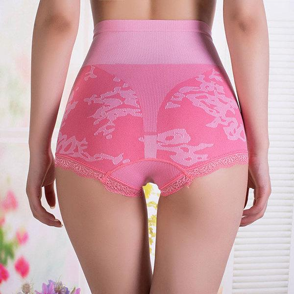 High Waist Seamless Body Shaping  Lace Hips Belly Briefs