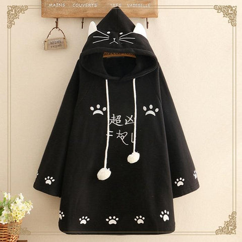 Embroidered And Velvet Warm Hooded Girl Cloak Cloak