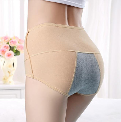 Large Size Cotton High Waist Physiological Period Briefs