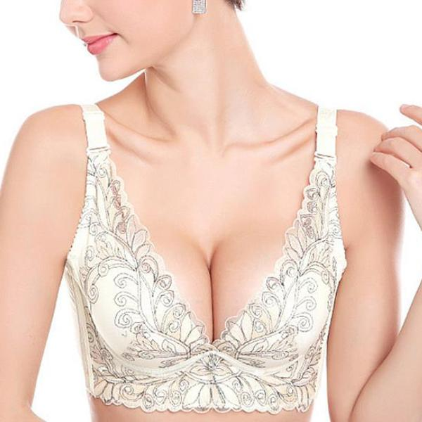 Sexy lace gathered adjustable bra